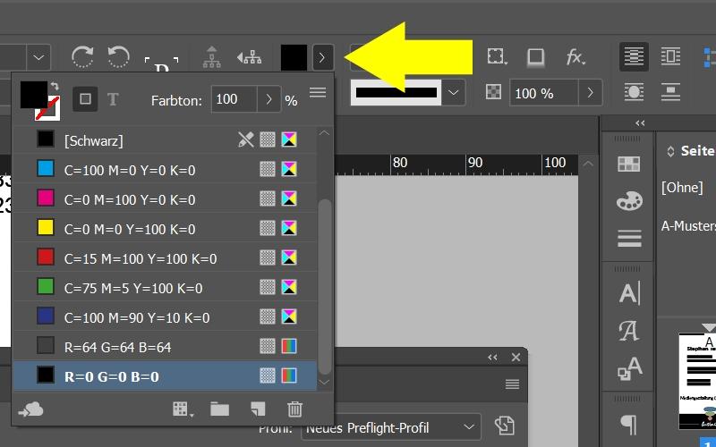 InDesign | Fehlerkorrektur 'FARBE' > 'Farbraum ist nicht zulässig' > 'Rechteck' - Bild 2