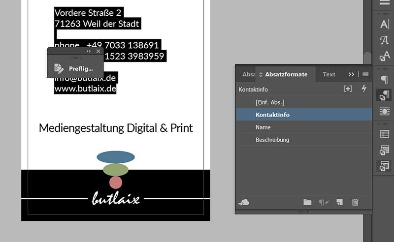 InDesign | Fehlerkorrektur 'TEXT' > 'Formatabweichung' - Bild 5
