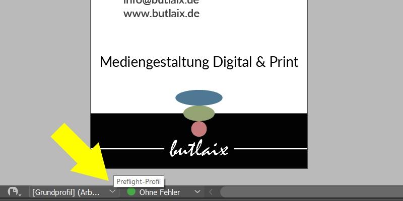 InDesign | Preflight-Profil aktivieren - Bild 1
