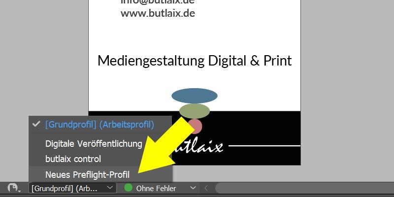 InDesign | Preflight-Profil aktivieren - Bild 2