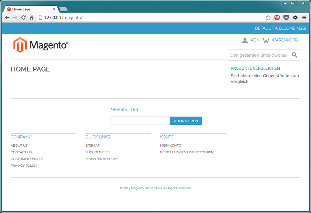 Magento Frontend (Home Page)