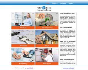 Projekt Hausverwaltung - Ansicht Desktop