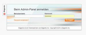 Magento - Login Admin-Panel