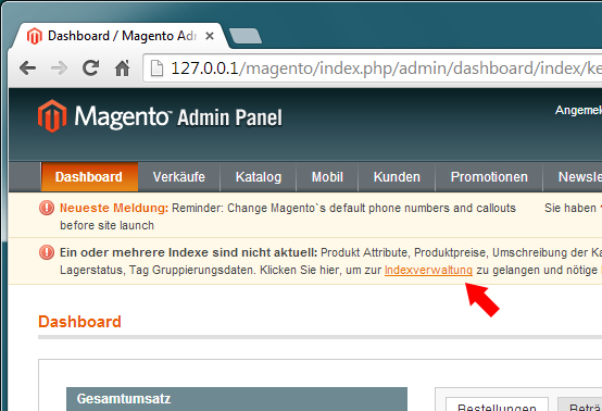 Magento - Aktualisierung (1)