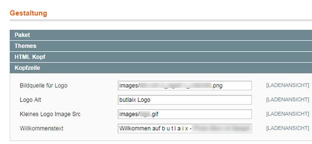 Magento - Konfiguration: Gestaltung (4)