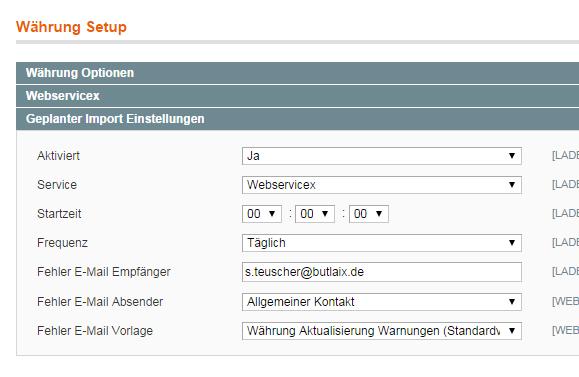 Magento - Konfiguration: Währung Setup (2)