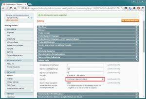 Magento - Konfiguration: Katalog (1)