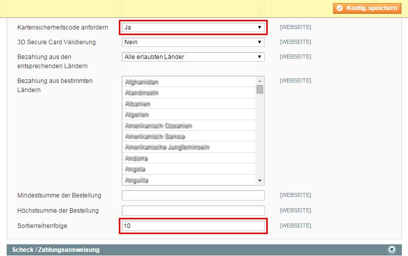 Magento - Systemkonfiguration: Verkäufe (5)