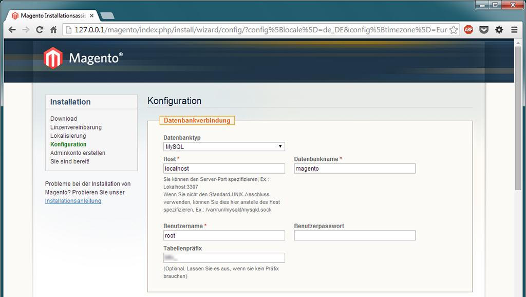 Magento Konfiguration 1