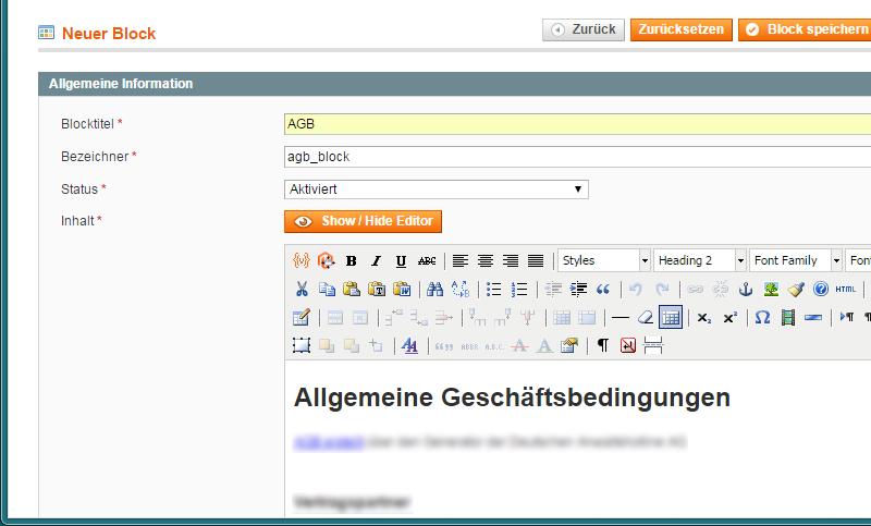 Magento - AGB & Widerruf (1)