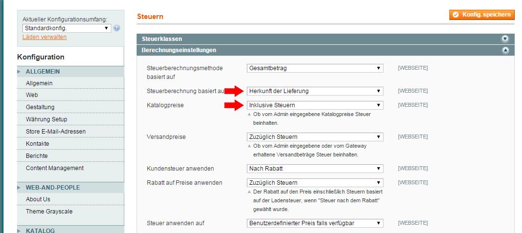 Magento - Steuerregeln (11)