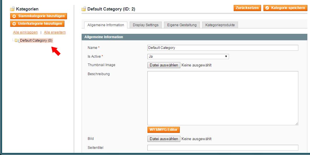 Magento - Produktkategorien & -attribute (1)