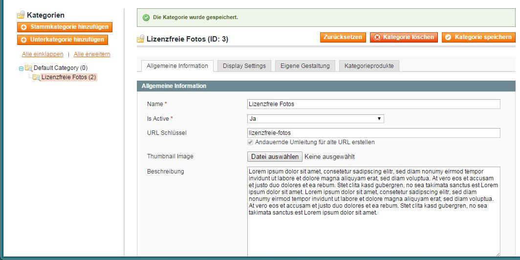 Magento - Produktkategorien & -attribute (2)