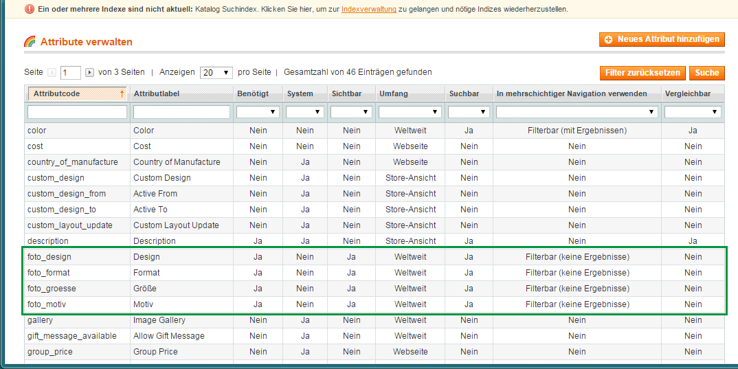 Magento - Produktkategorien & -attribute (6)