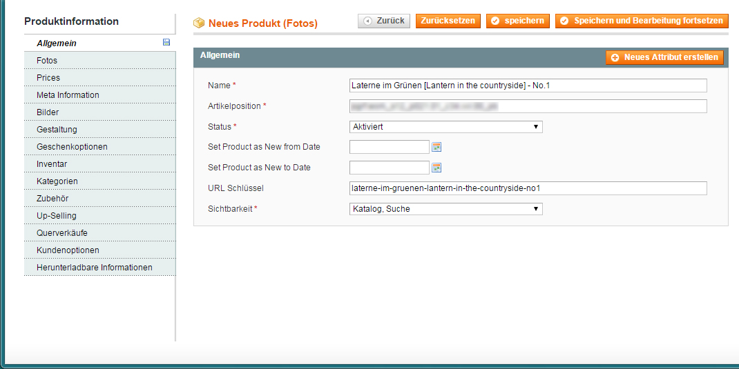 Magento - Downloadartikel anlegen u. hochladen (2)