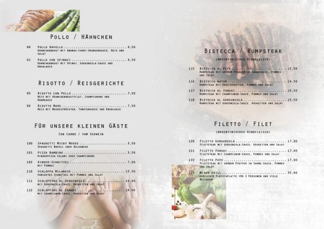 Speisekarte mit Adobe InDesign (freie Arbeit) - Seiten 6-7 | Join me on Facebook ► http://bit.ly/Btlx-FB