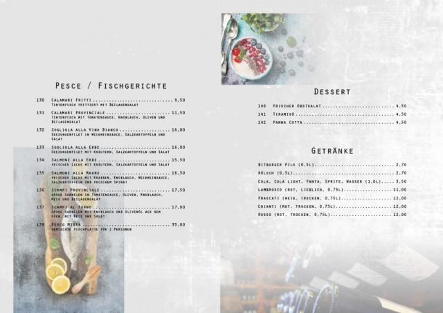 Speisekarte mit Adobe InDesign (freie Arbeit) - Seiten 8-9 | Join me on Facebook ► http://bit.ly/Btlx-FB