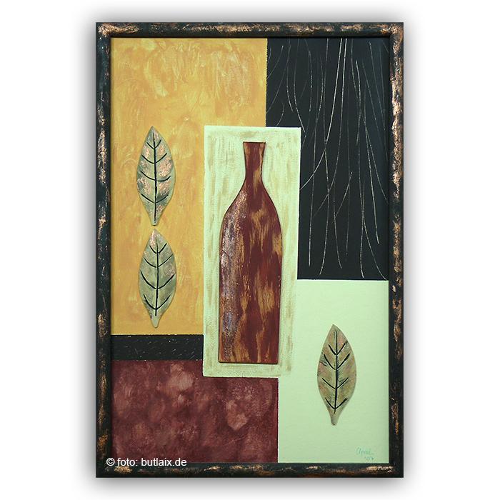 Fotografierte Kunst: »Vasen mit Rahmen 2« von Ursula Pech - up-kreativ-art.de