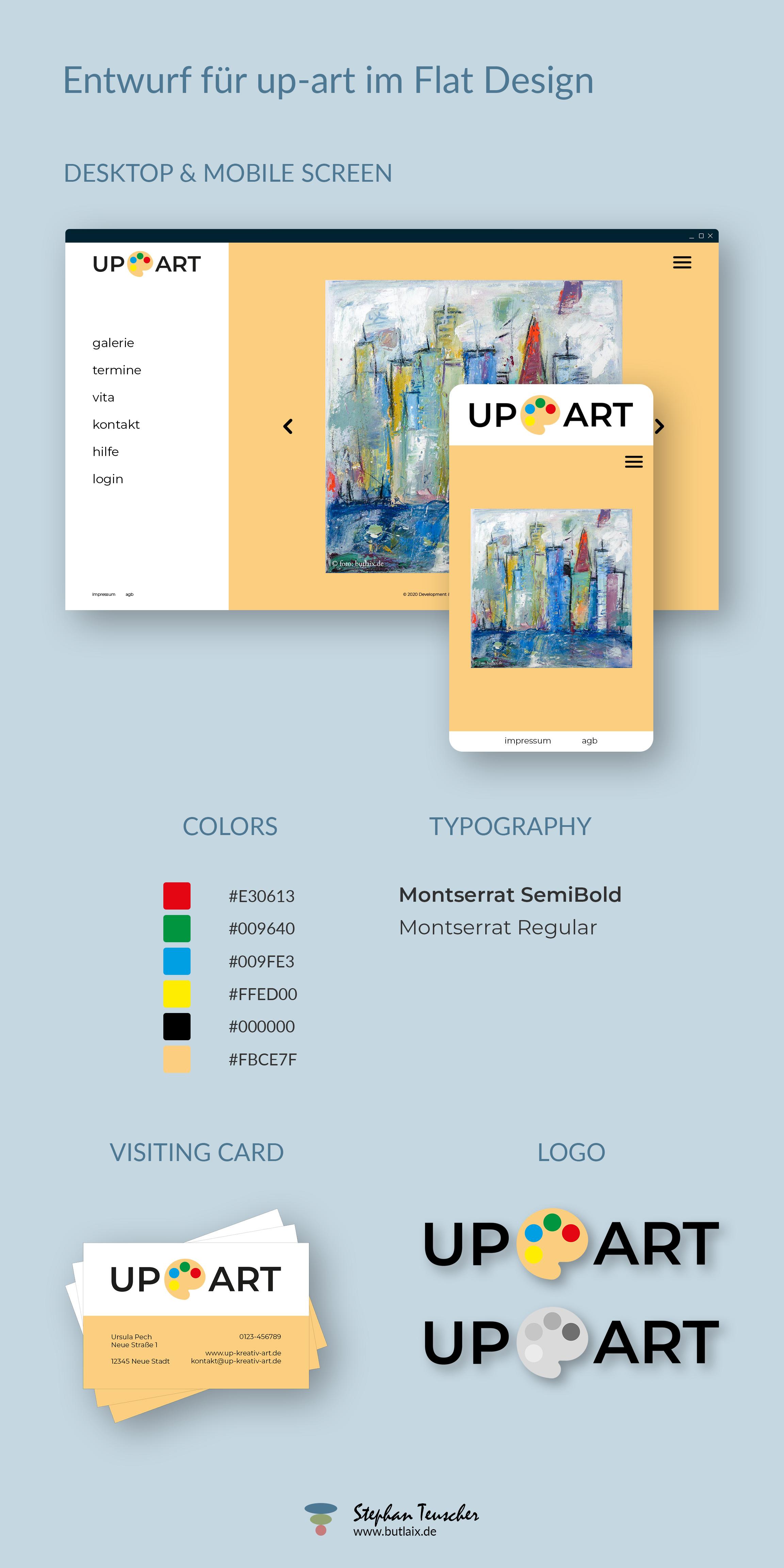 Concept Graphic - up-art im Flat Design